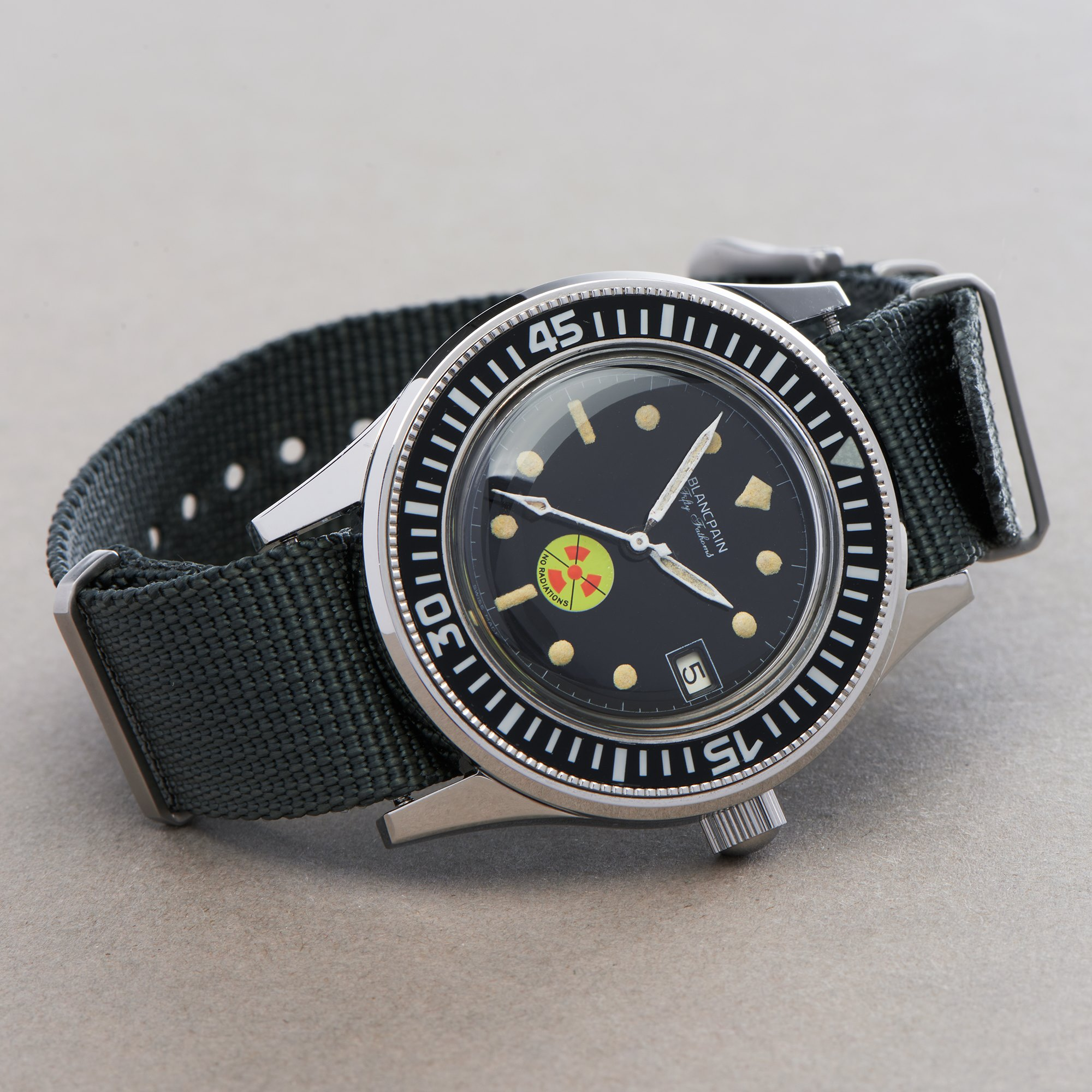 Blancpain Fifty Fathoms No Radiation Dial Roestvrij Staal MM7617
