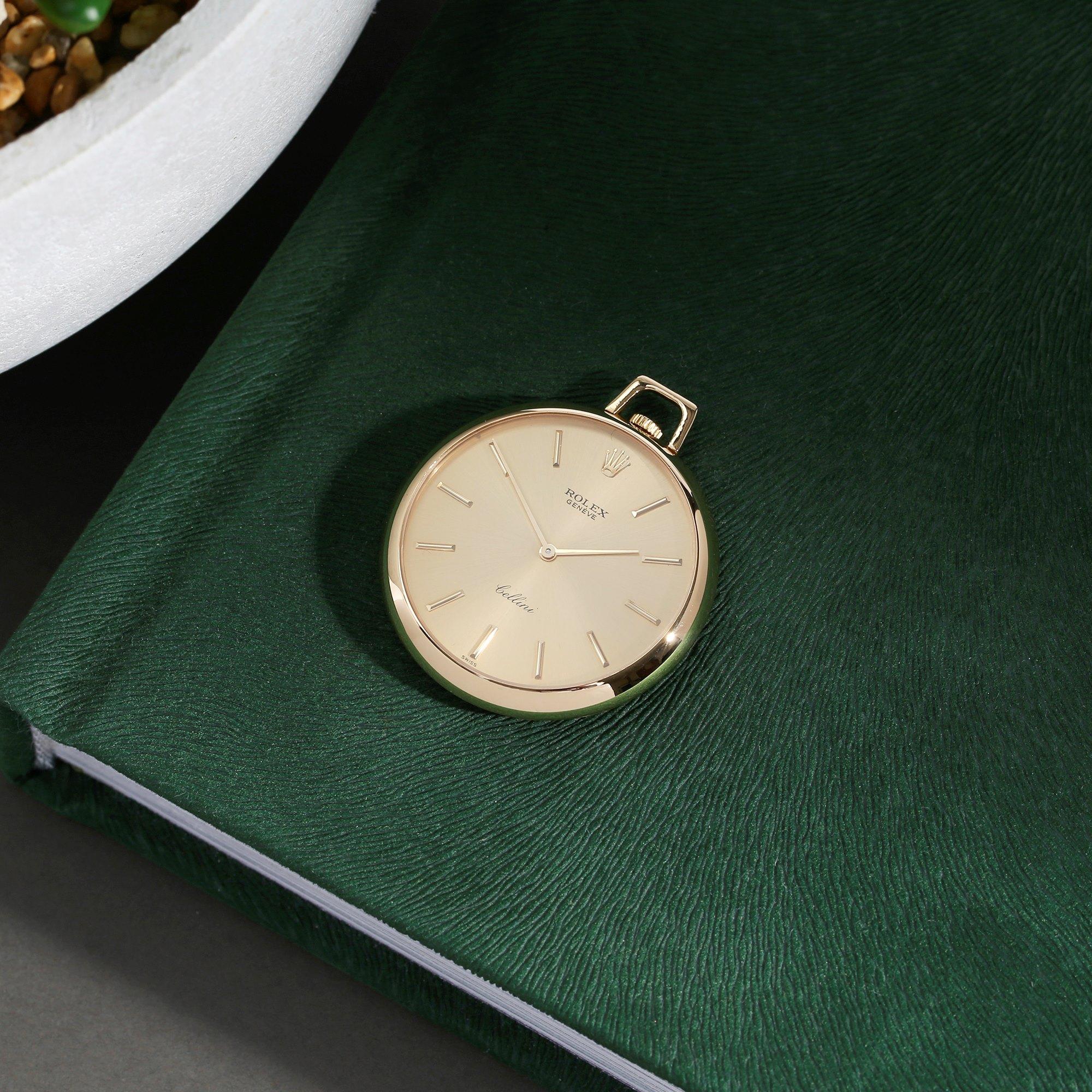 Rolex Cellini Pocket Watch Calibre 1600 18K Yellow Gold 3717
