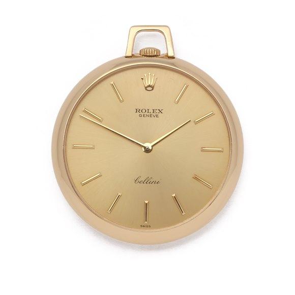 Rolex Cellini Pocket Watch Calibre 1600 18K Yellow Gold - 3717