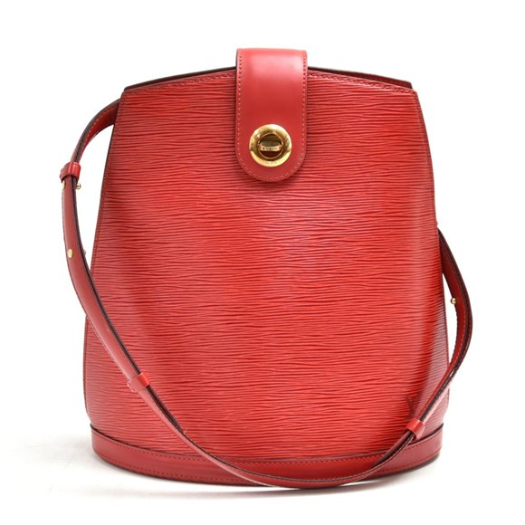 Louis Vuitton Red Epi Leather Vintage Cluny