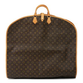 Louis Vuitton Brown Monogram Coated Canvas & Vachetta Leather Vintage Travel Bag