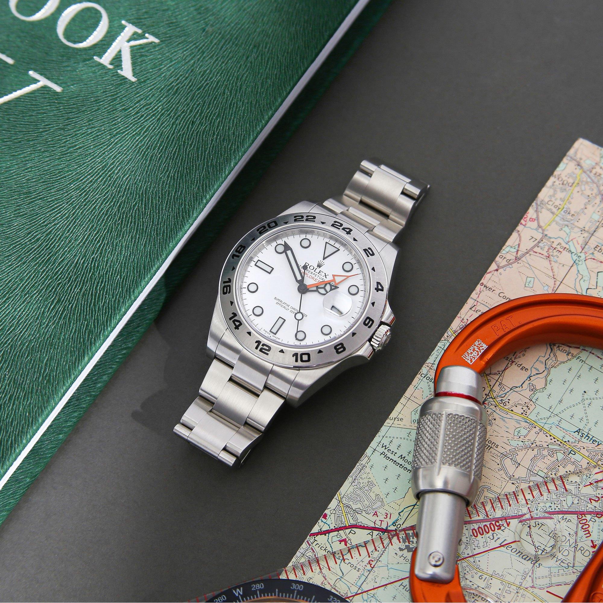 Rolex Explorer II Roestvrij Staal 216570