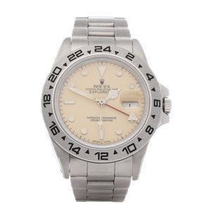 Rolex Explorer II Cream Rail Dial Stainless Steel - 16550