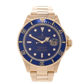 Rolex Submariner Date 18K Yellow Gold - 16618