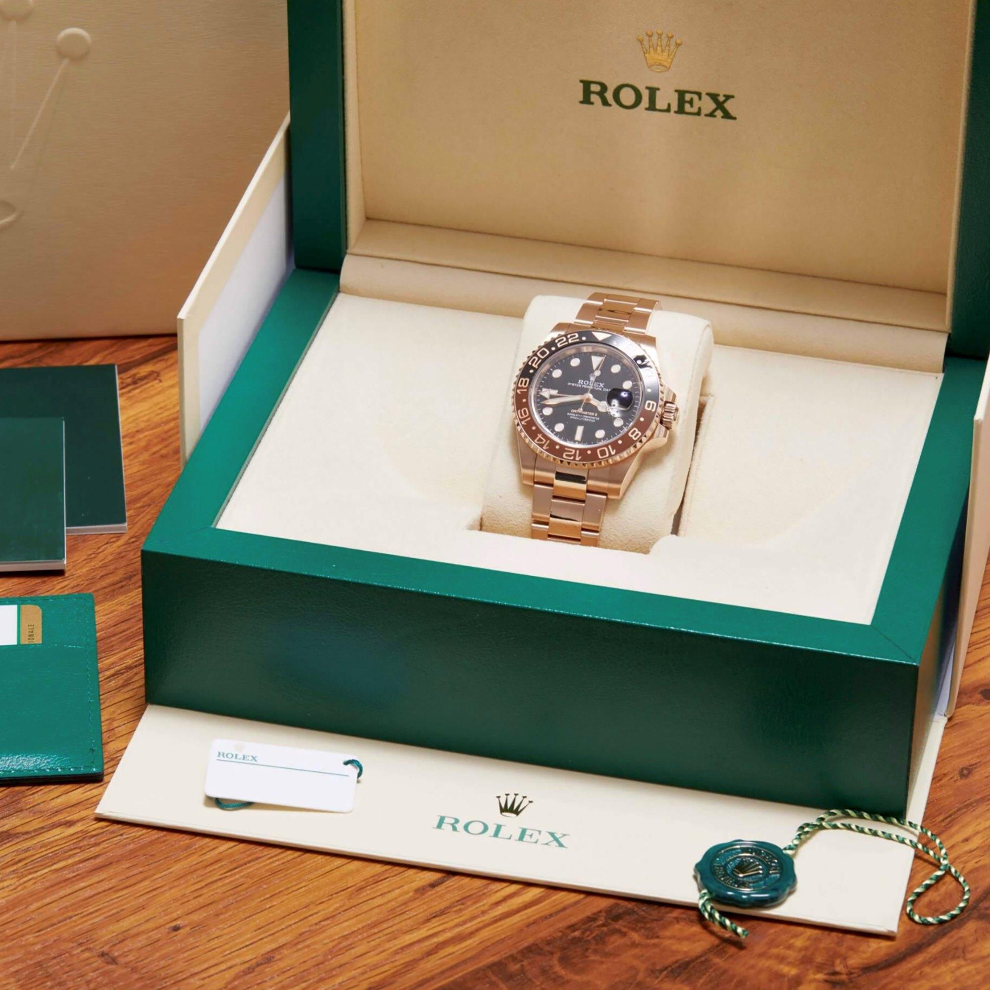 Rolex GMT-Master II 'Root Beer' 18K Rose Gold 126715CHNR