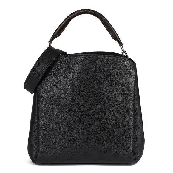 Louis Vuitton Black Monogram Mahina Leather & Brown Leather Babylone MM
