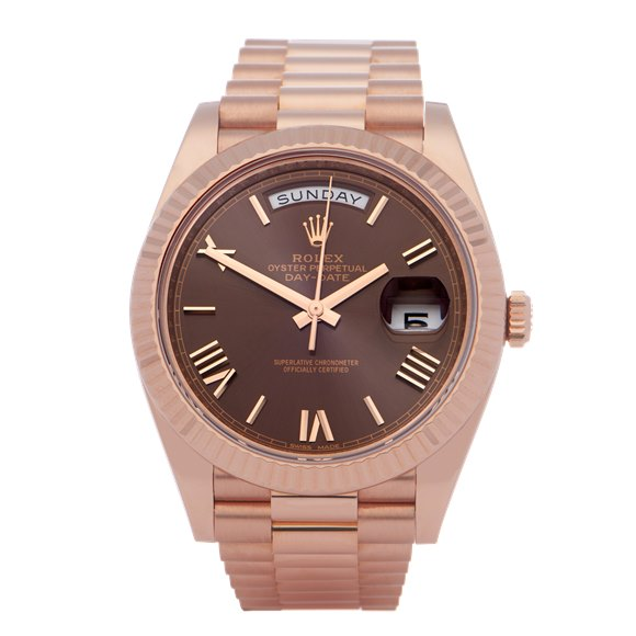 Rolex Day-Date 40 Chocolate Dial 18K Rose Gold - 228235