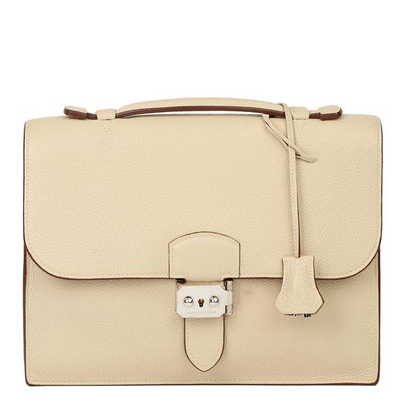 Hermès Parchemin Clemence Leather Sac a Depeche 27