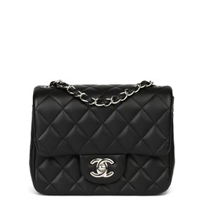 Chanel Black Quilted Lambksin Mini Flap Bag