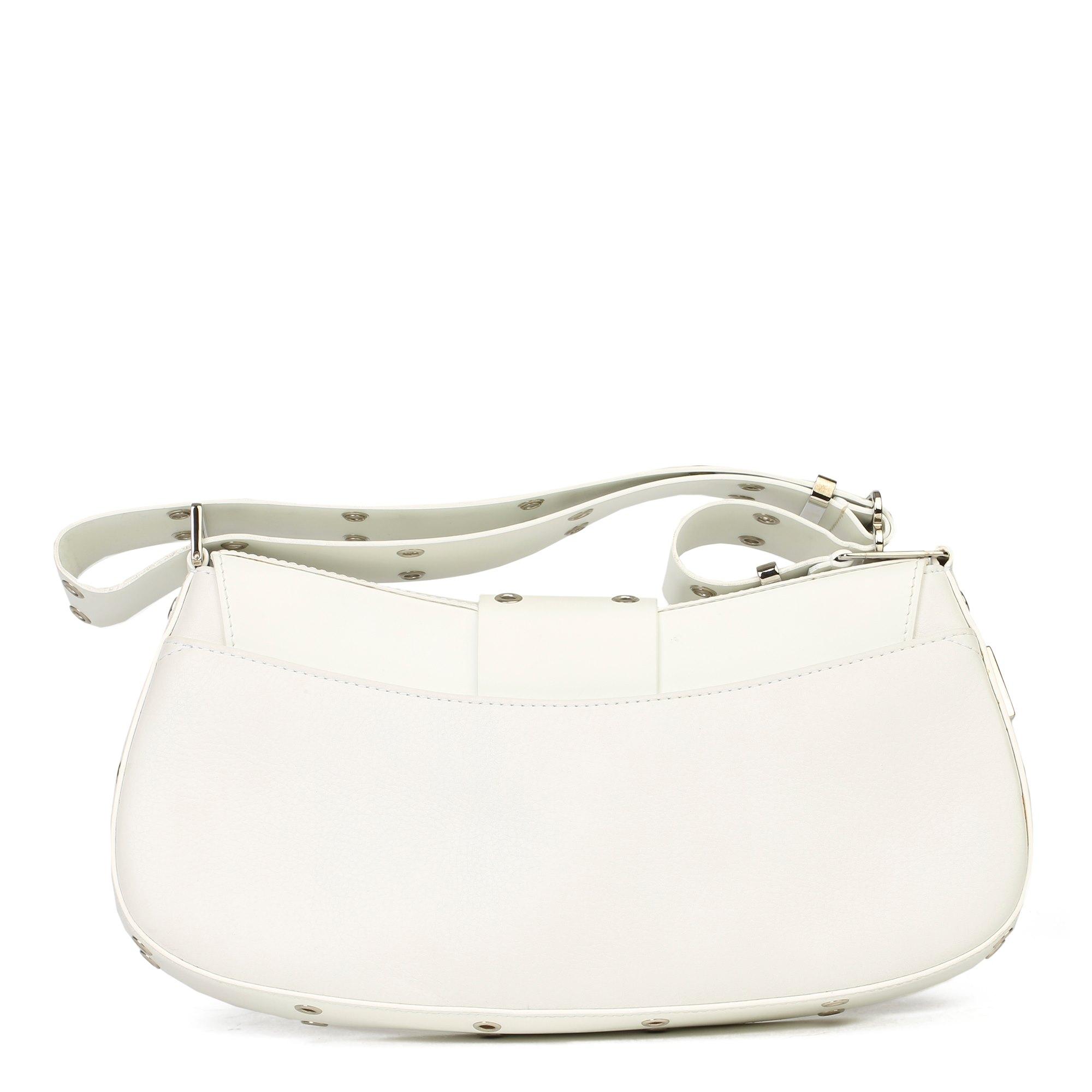 Christian Dior White Calfskin Leather Columbus