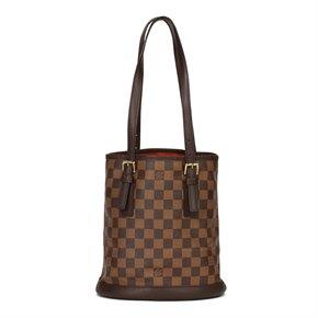 Louis Vuitton Brown Damier Ebene Coated CanvaS Vintage Bucket Bag