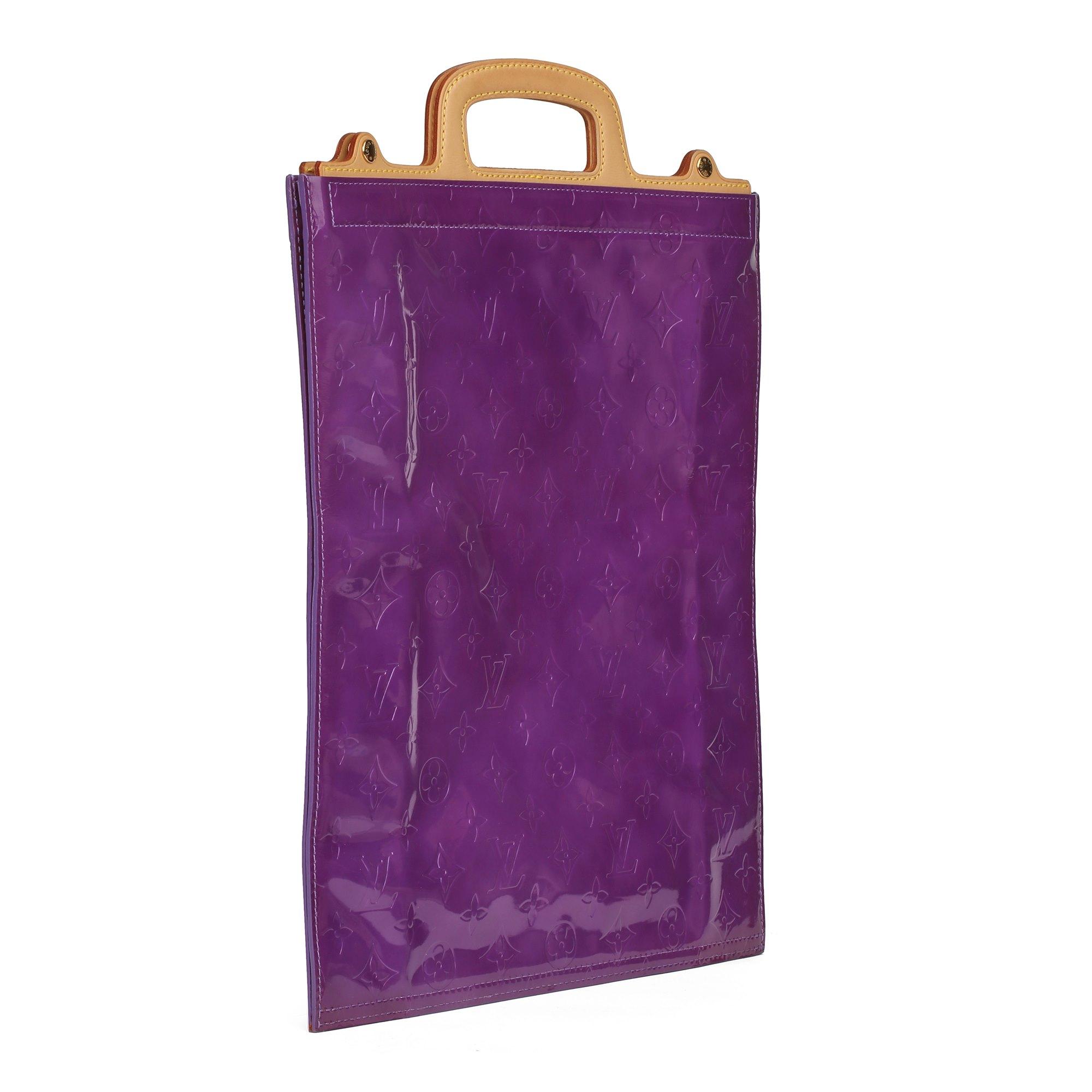 Louis Vuitton Purple Monogram Vernis Leather & Vachetta Leather Vintage Stanton