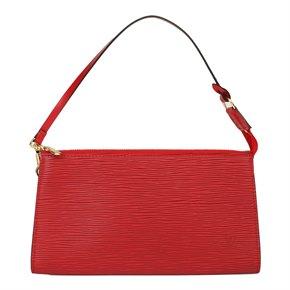Louis Vuitton Red Epi Leather VIntage Pochette Accessoires