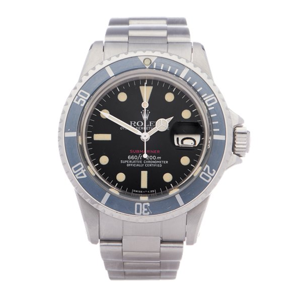 Rolex Submariner Date 'Single Red' Stainless Steel - 1680
