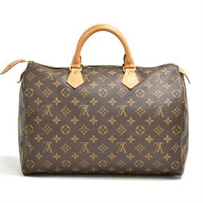 Louis Vuitton Brown Monogram Coated Canvas & Vachetta Leather Vintage Speedy 35