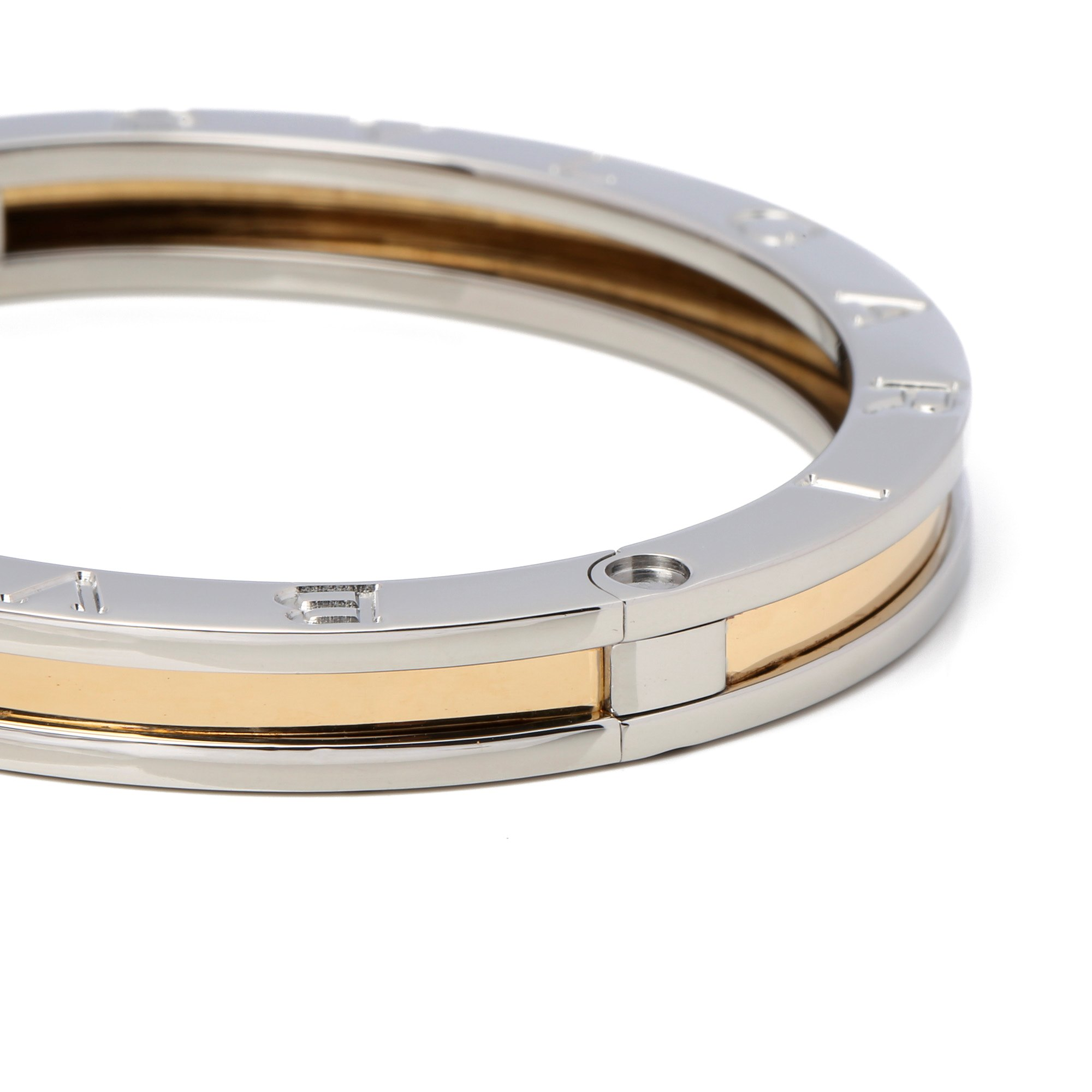 Bulgari B Zero 1 Steel & Gold Bangle