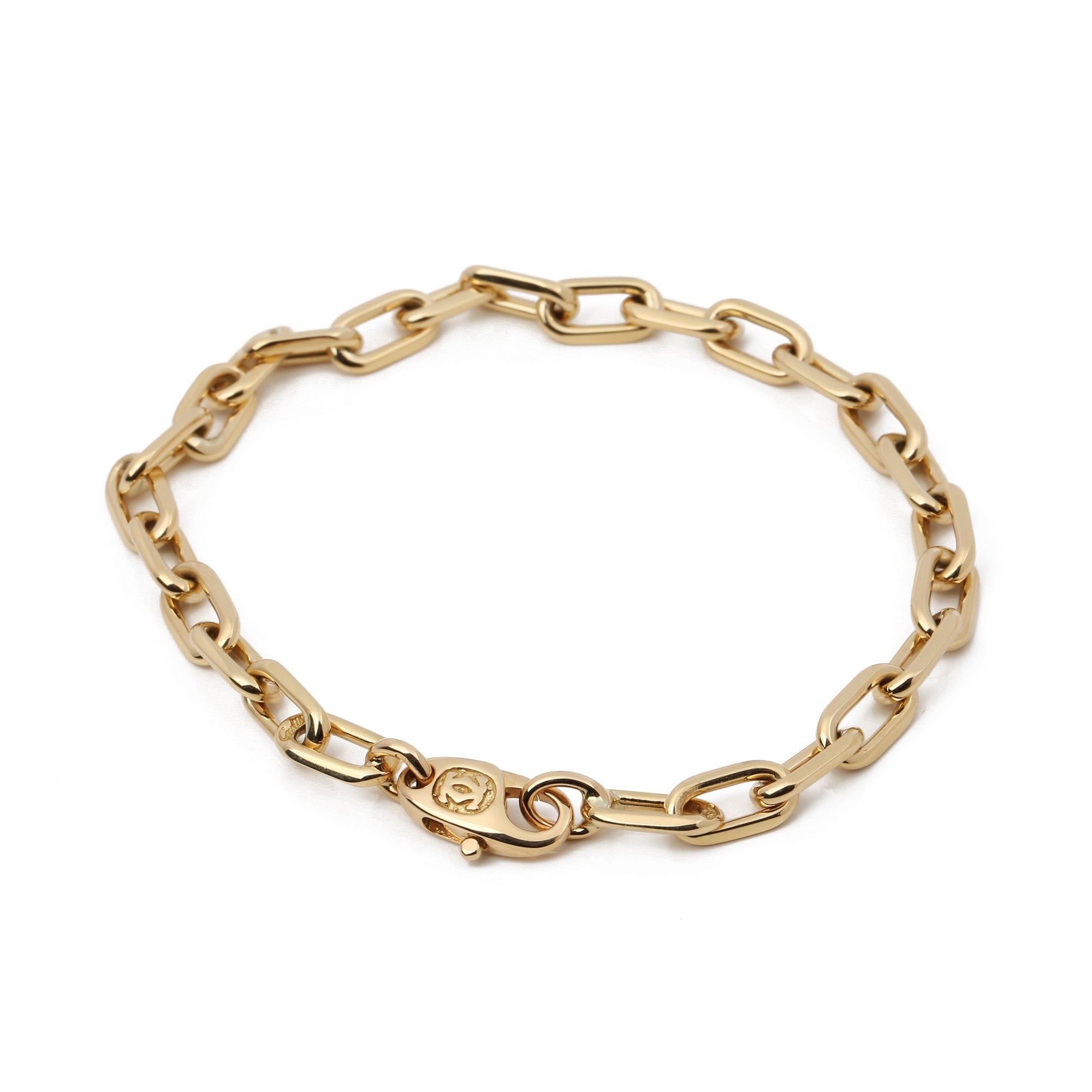Cartier Santos 18.5cm 18ct Gold Bracelet