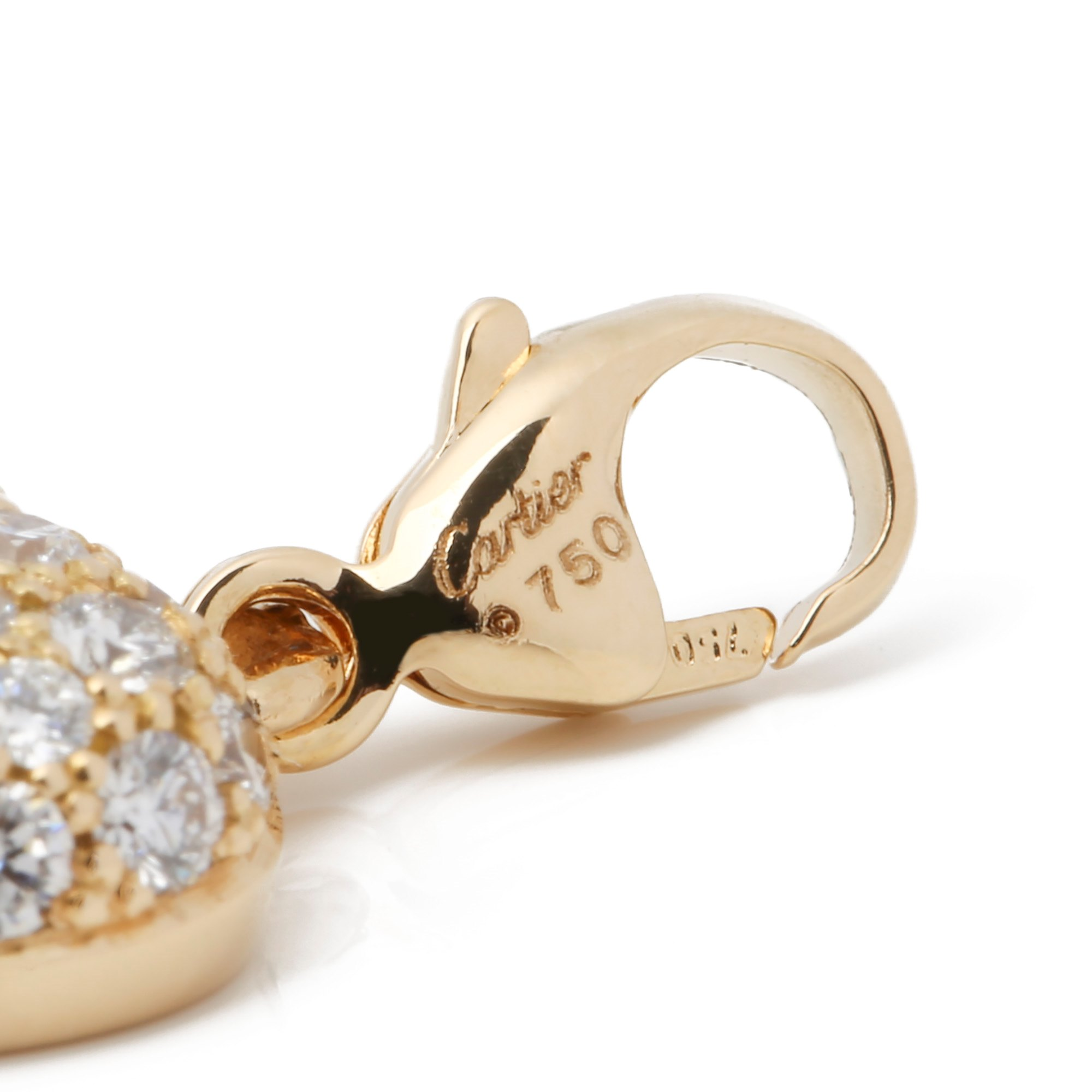 Cartier Pave Diamond Heart Charm Pendant