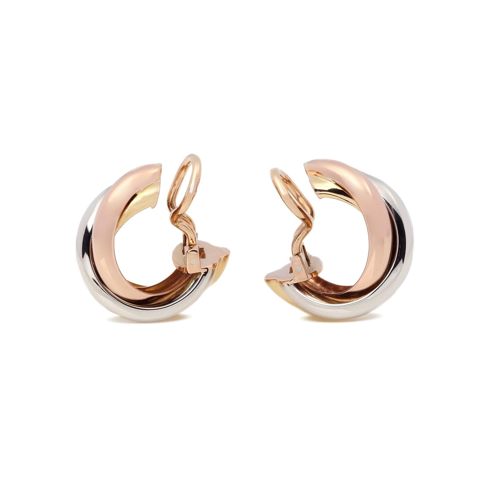 Cartier Clip Hoop Earrings