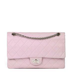 Chanel Sakura Pink Quilted Lambskin 2.55 Reissue 226 Flap Bag
