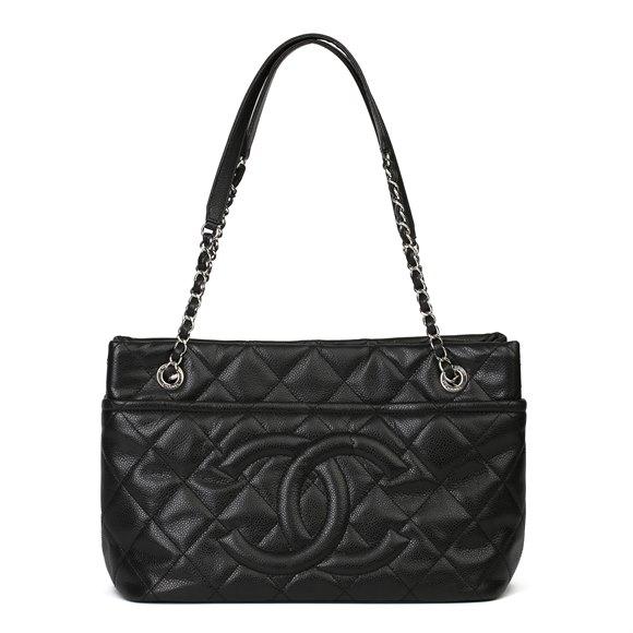 Chanel Black Quilted Caviar Leather Timeless Shoulder Bag
