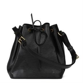 Louis Vuitton Black Epi Leather Vintage Petit Noé