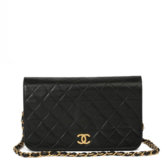 Chanel Black Quilted Lambskin Medium Classic Single Full Flap Bag