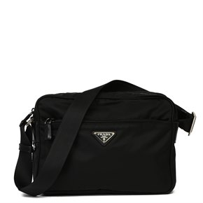 Prada Black Nylon & Calfskin Leather Camera Bag