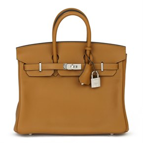 Hermès Bronze Dore Swift Leather Birkin 25cm