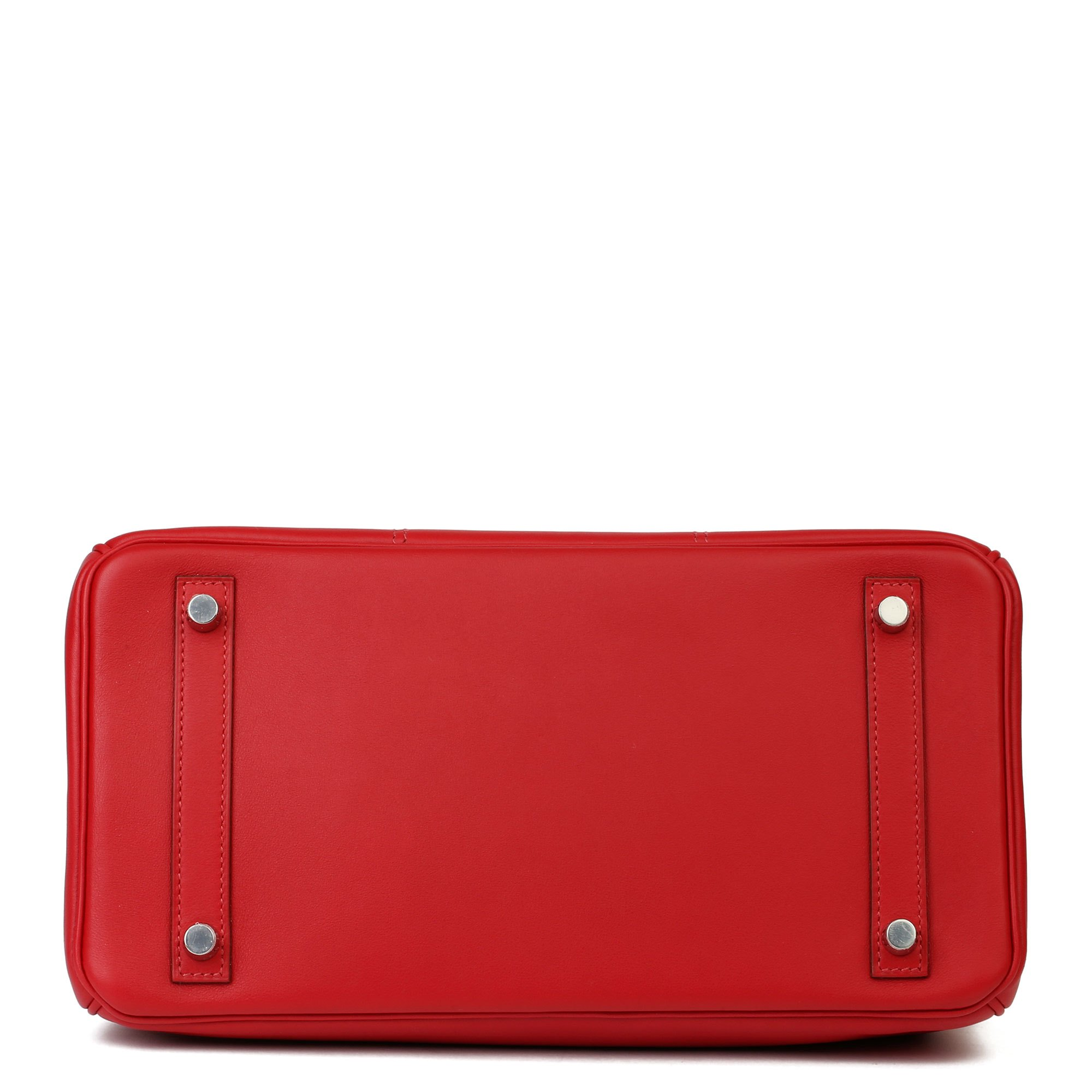 Hermès Rouge de Coeur Swift Leather & Rouge Piment, Rouge H Epsom Leather Tressage Birkin 30cm Retourne