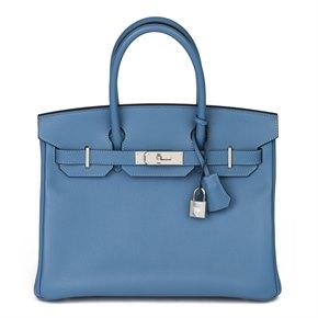 Hermès Blue Azure Epsom Leather Birkin 30cm