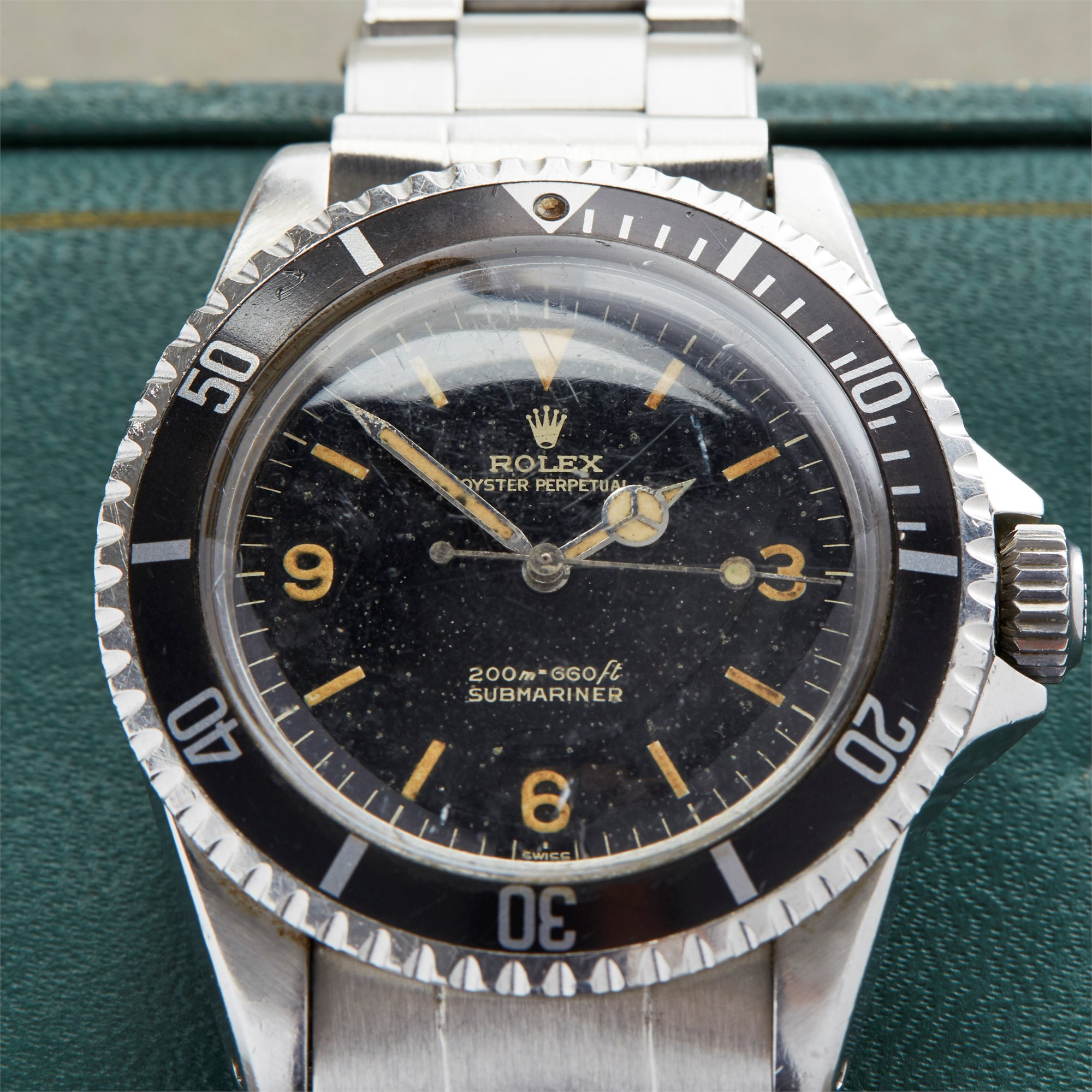 "Rolex Submariner Gilt Explorer ""Kissing L"" Dial Stainless Steel - 5513 Stainless Steel 5513"