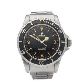 """Rolex Submariner Gilt Explorer """"Kissing L"""" Dial Stainless Steel - 5513"""