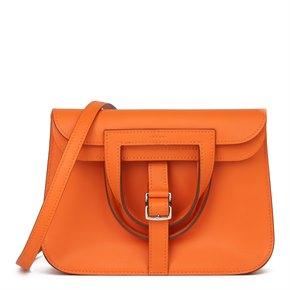 Hermès Orange H Swift Leather Halzan 22