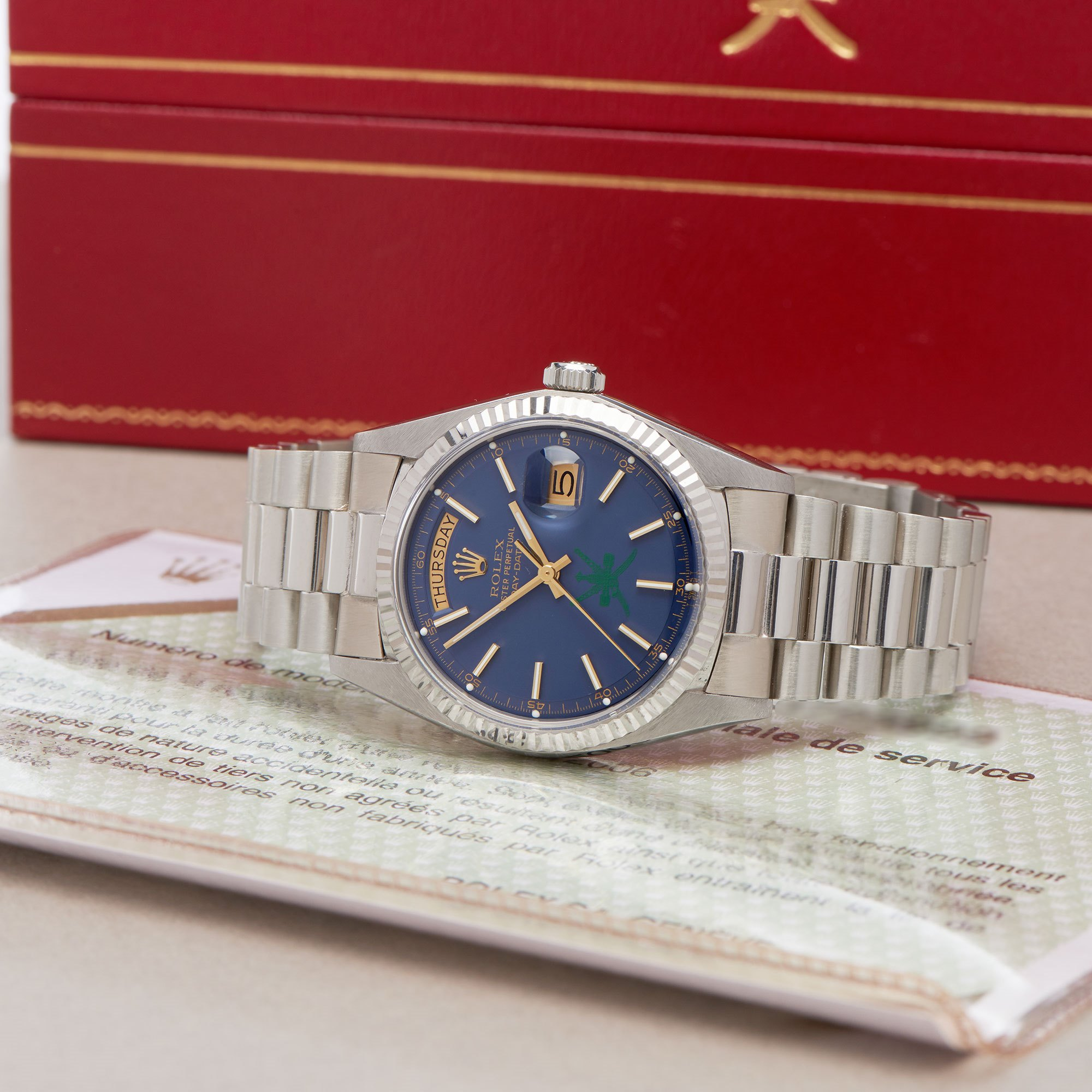 Rolex Day-Date 36 'Khanjar' Dial 18K White Gold - 1803/9 Wit Goud 1803/9