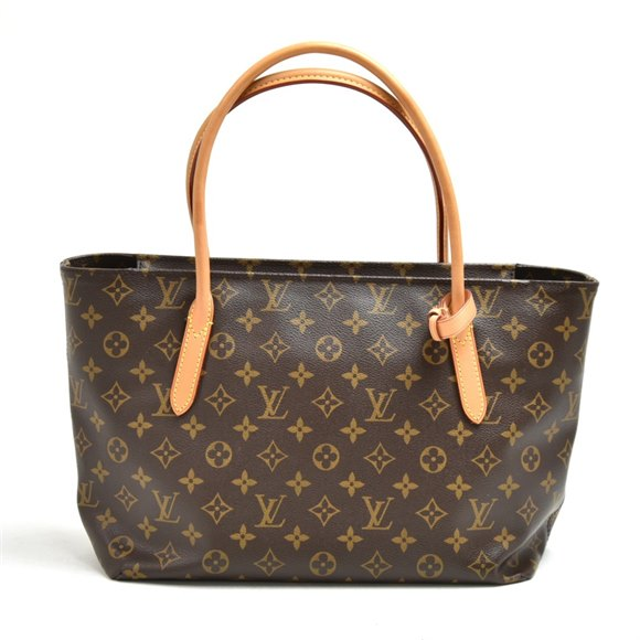 Louis Vuitton Brown Monogram Coated Canvas & Vachetta Leather Raspail PM