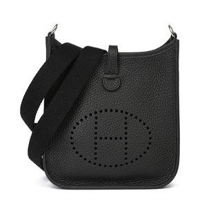Hermès Black Clemence Leather Evelyne III TPM