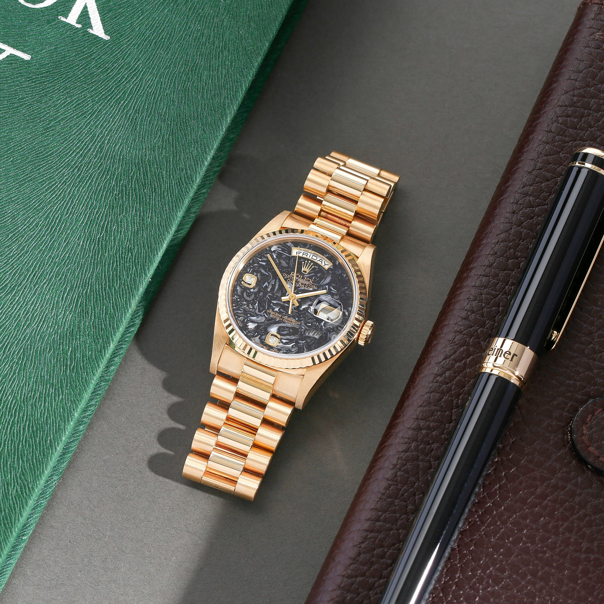 Rolex Day-Date 36 Ammonite Fossil Dial 18K Yellow Gold - 18238 Yellow Gold 18238