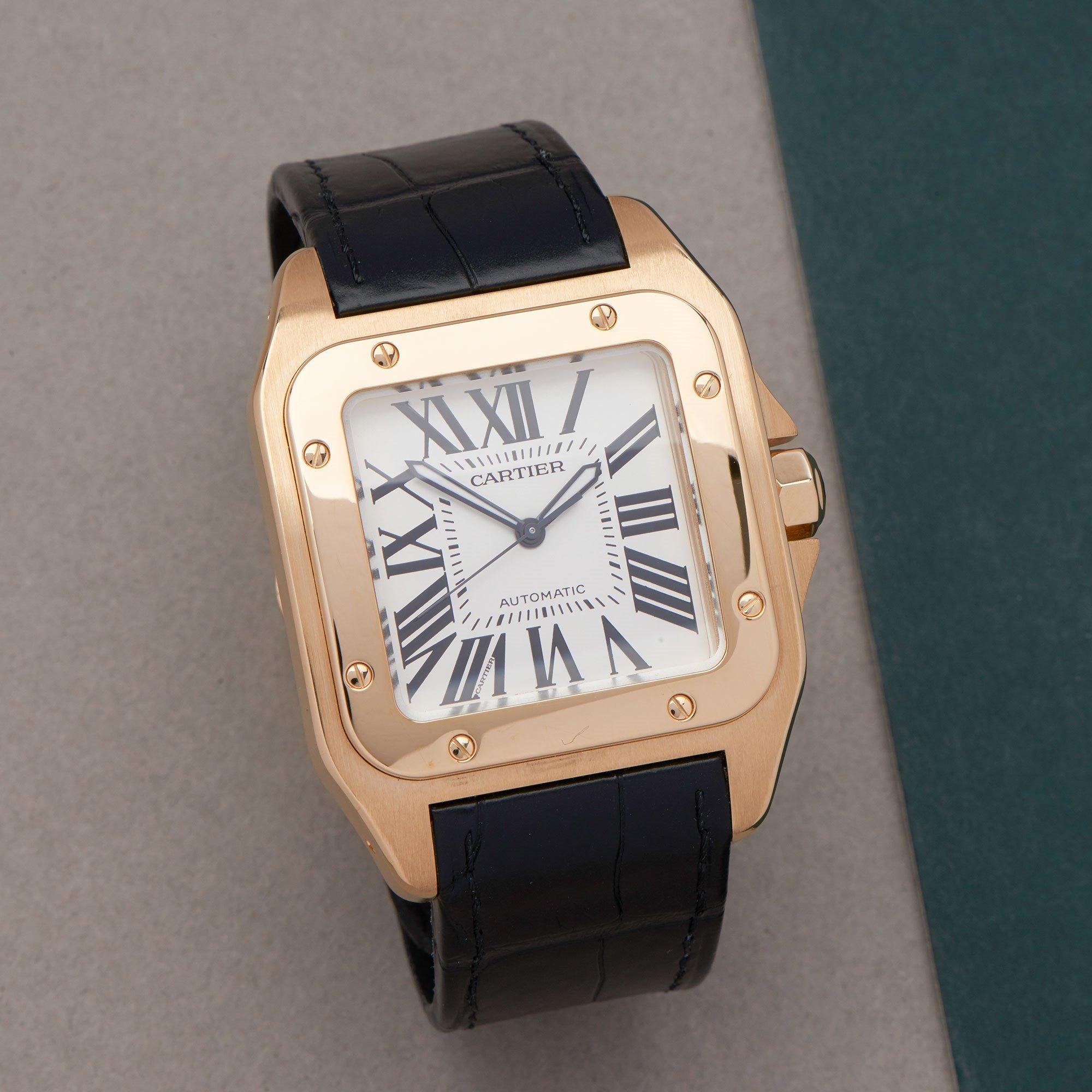 Cartier Santos 100XL 18K Yellow Gold 2657 or W20071Y1