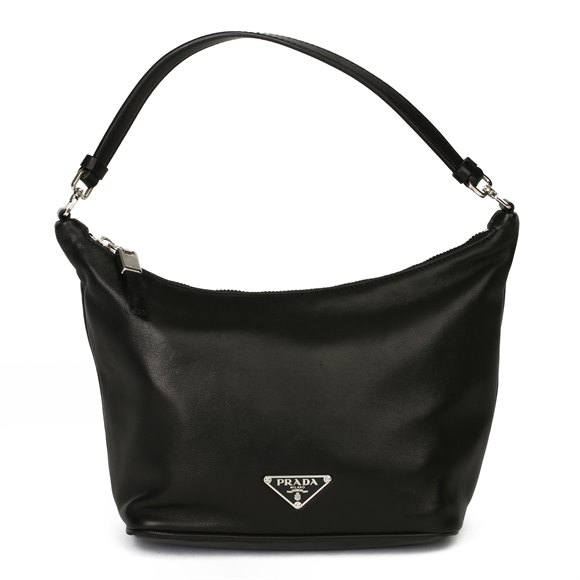 Prada Black Nappa Leather Sirio