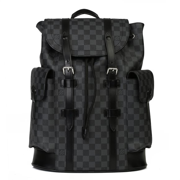 Louis Vuitton Graphite Damier Coated Canvas & Calfskin Leather Christopher Backpack