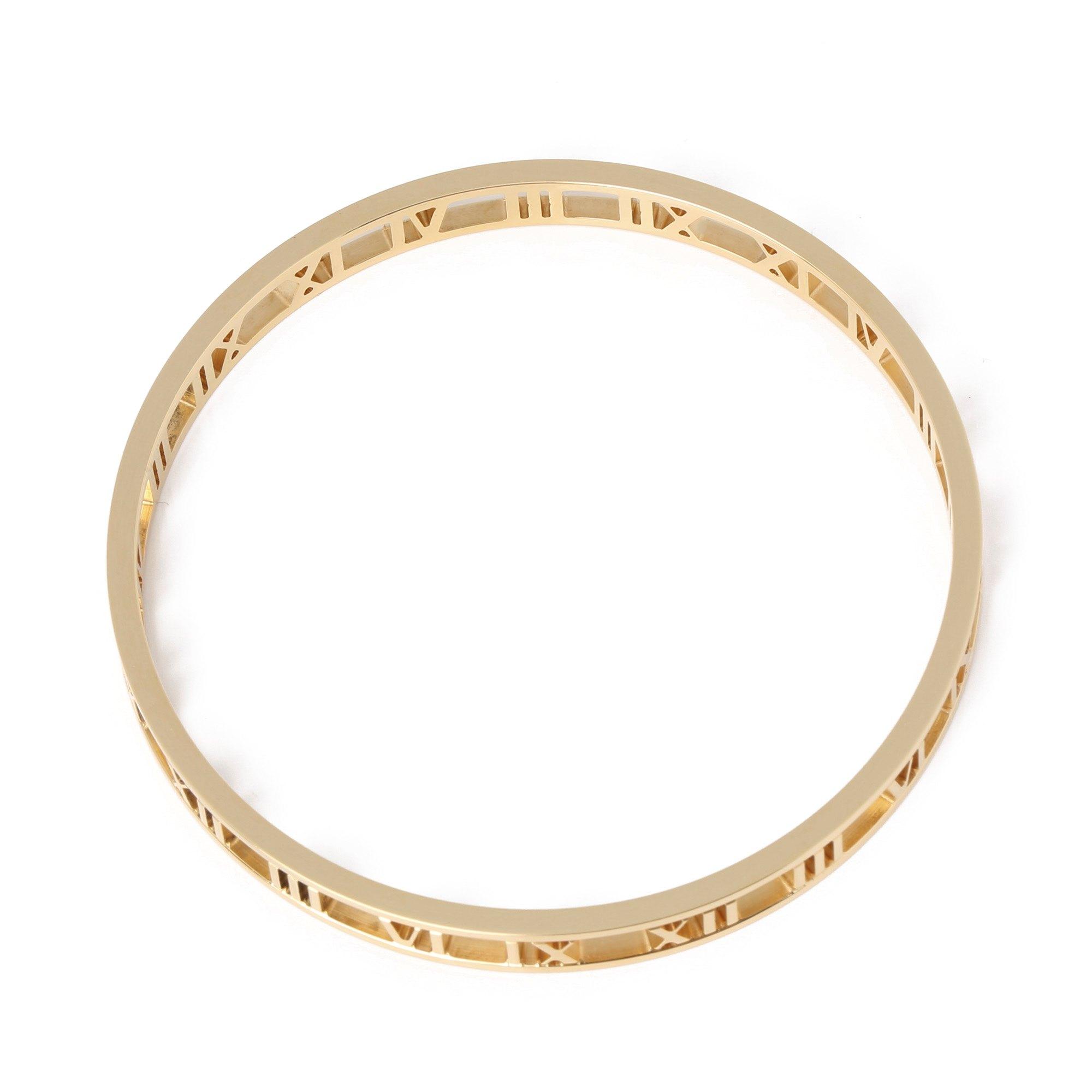 Tiffany & Co. Atlas 18k yellow gold bangle