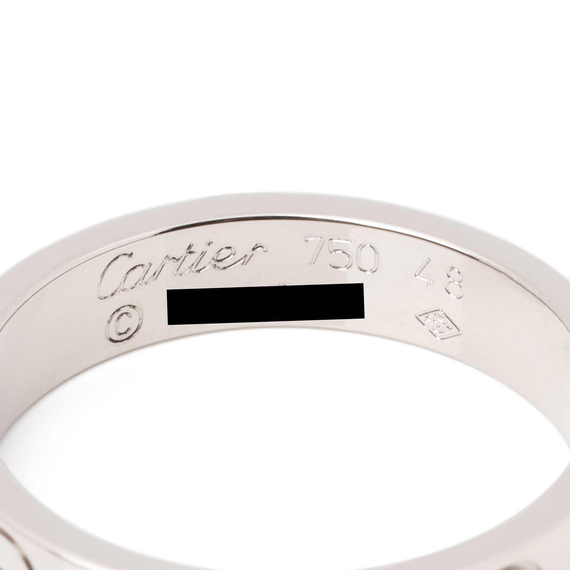 Cartier Love 18ct White Gold Wedding Band