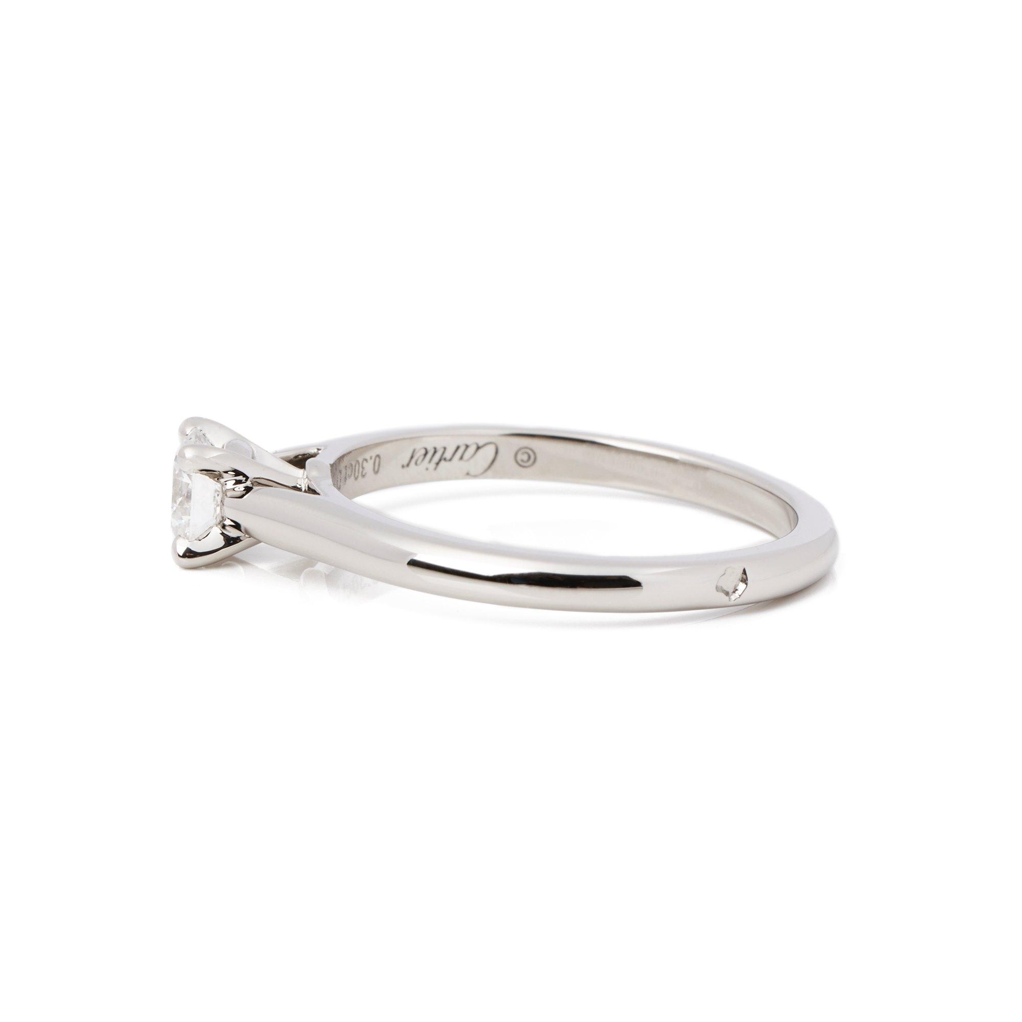Cartier Platinum Solitaire 1895 Ring