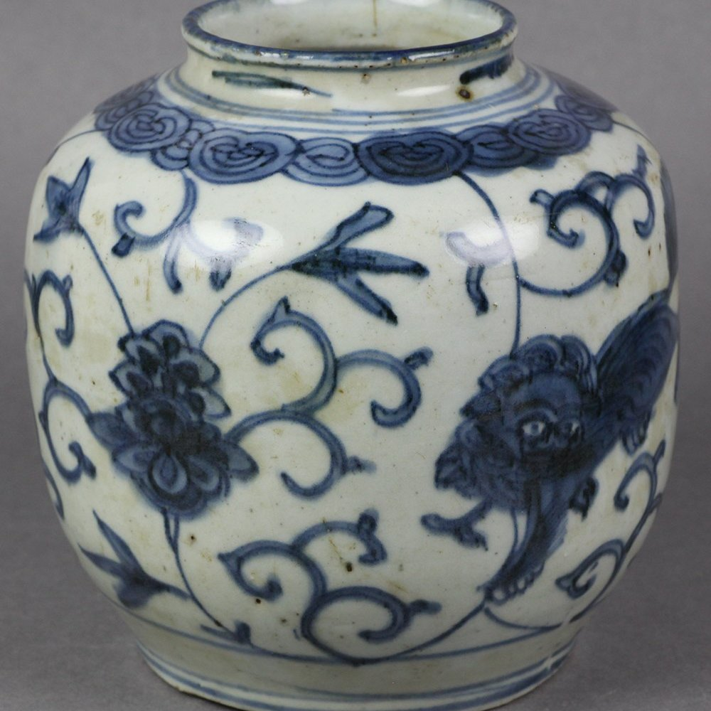 MING TEMPLE LIONS PORCELAIN Dates from the Ming Dynasty 15/16th Century