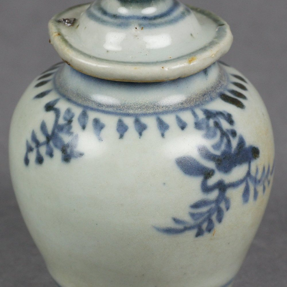 MING MINIATURE FLORAL JAR Dates from the Ming Dynasty 15/16th Century