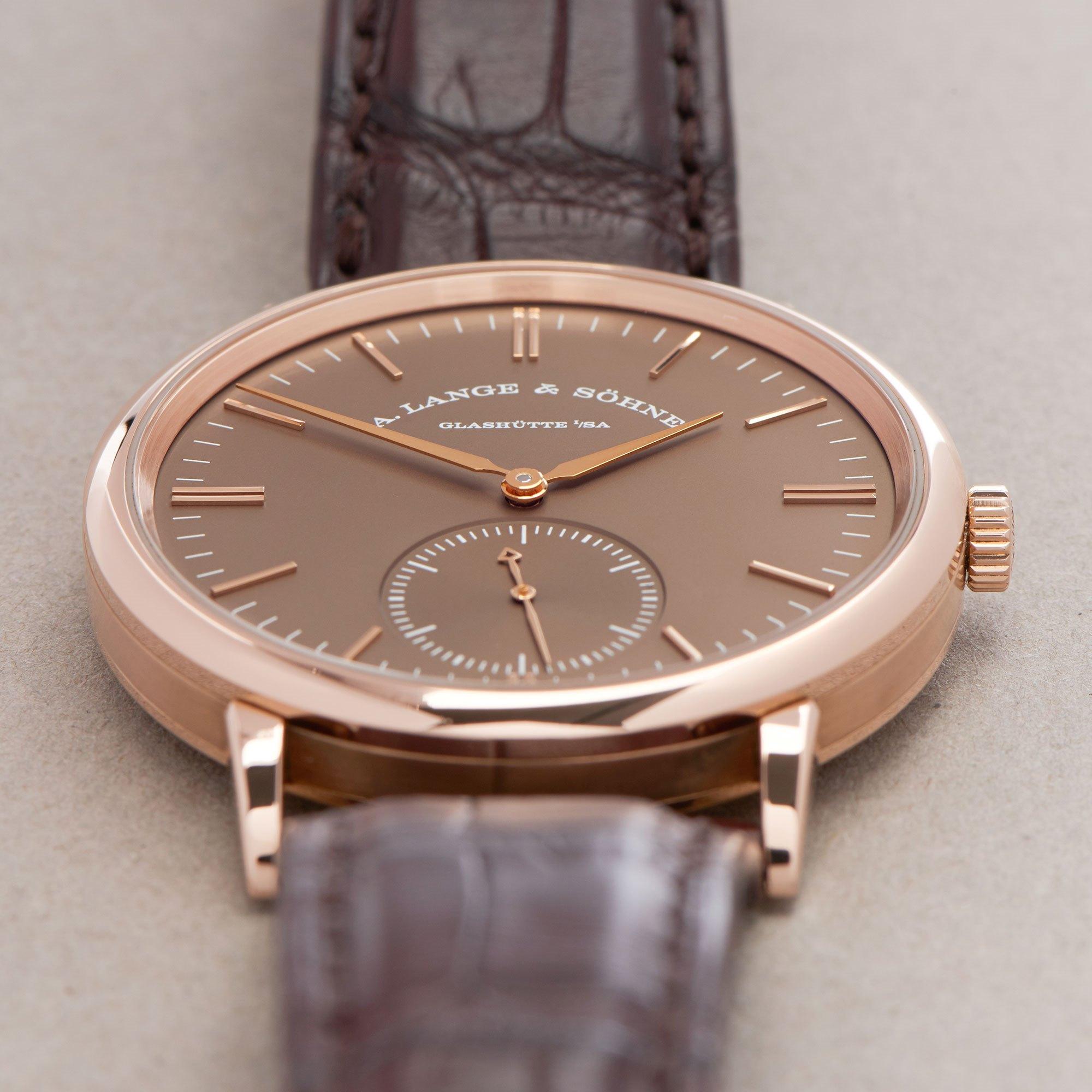 A. Lange & Söhne Saxonia 18K Rose Gold 380.042