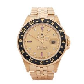 Rolex GMT-Master II Serti Dial 18K Yellow Gold - 16718