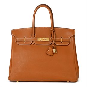 Hermès Gold Togo Leather Birkin 35cm Retourne