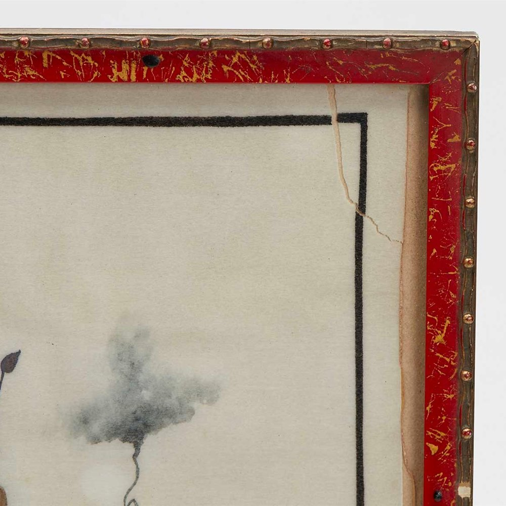 ANTIQUE CHINESE FRAMED WATERCOLOUR OF A LADY ON SILK 19TH C 19th Century